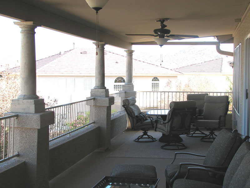 Second Floor Patio Roof Cover With Decorative Concrete Columns