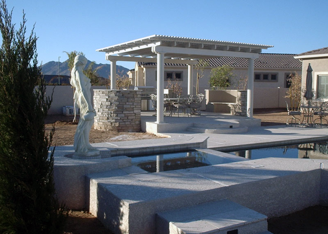 outdoor-gazebo-with-statue