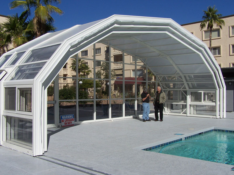 Retractable pool enclosure in Scottsdale Arizona