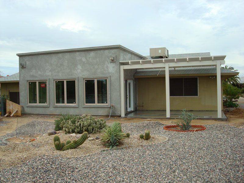 Family room addition and lattice patio roof cover. Sun City Arizona