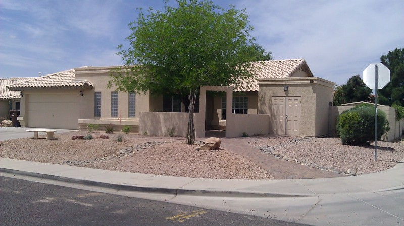 Family room addition with fenced courtyard. Peoria arizona