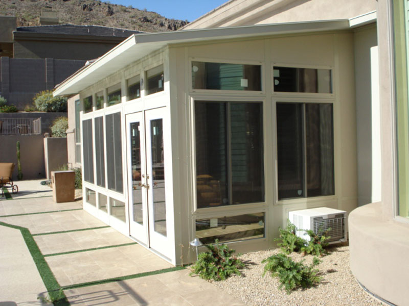 walls only under existing roof ForModular Sunroom
