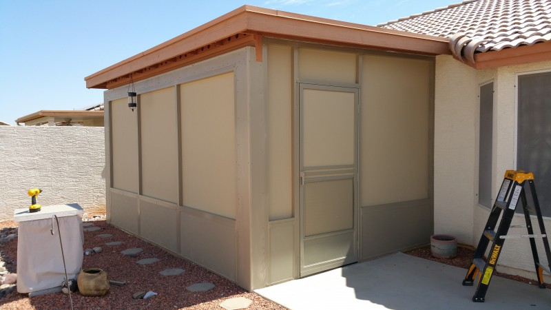 Using 90% Sunscreen Fabric To Create A Screen Room Under The Existing Patio  Cover. Location: Peoria Arizona