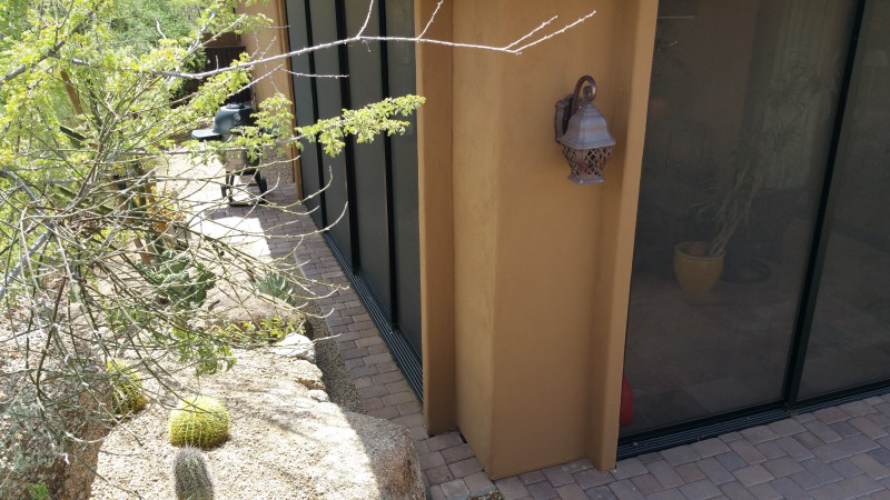Screened patio using custom screen doors-Scottsdale