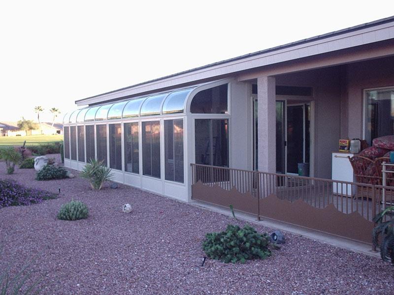 Glass Roof Sunroom - Arizona Enclosures and Sunrooms