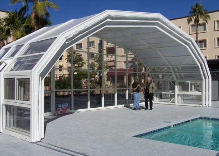 Pool Enclosure Retracted