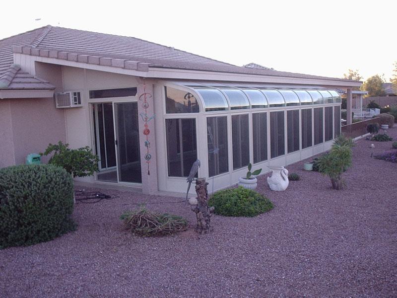 Glass Roof Sunroom Arizona Enclosures And Sunrooms