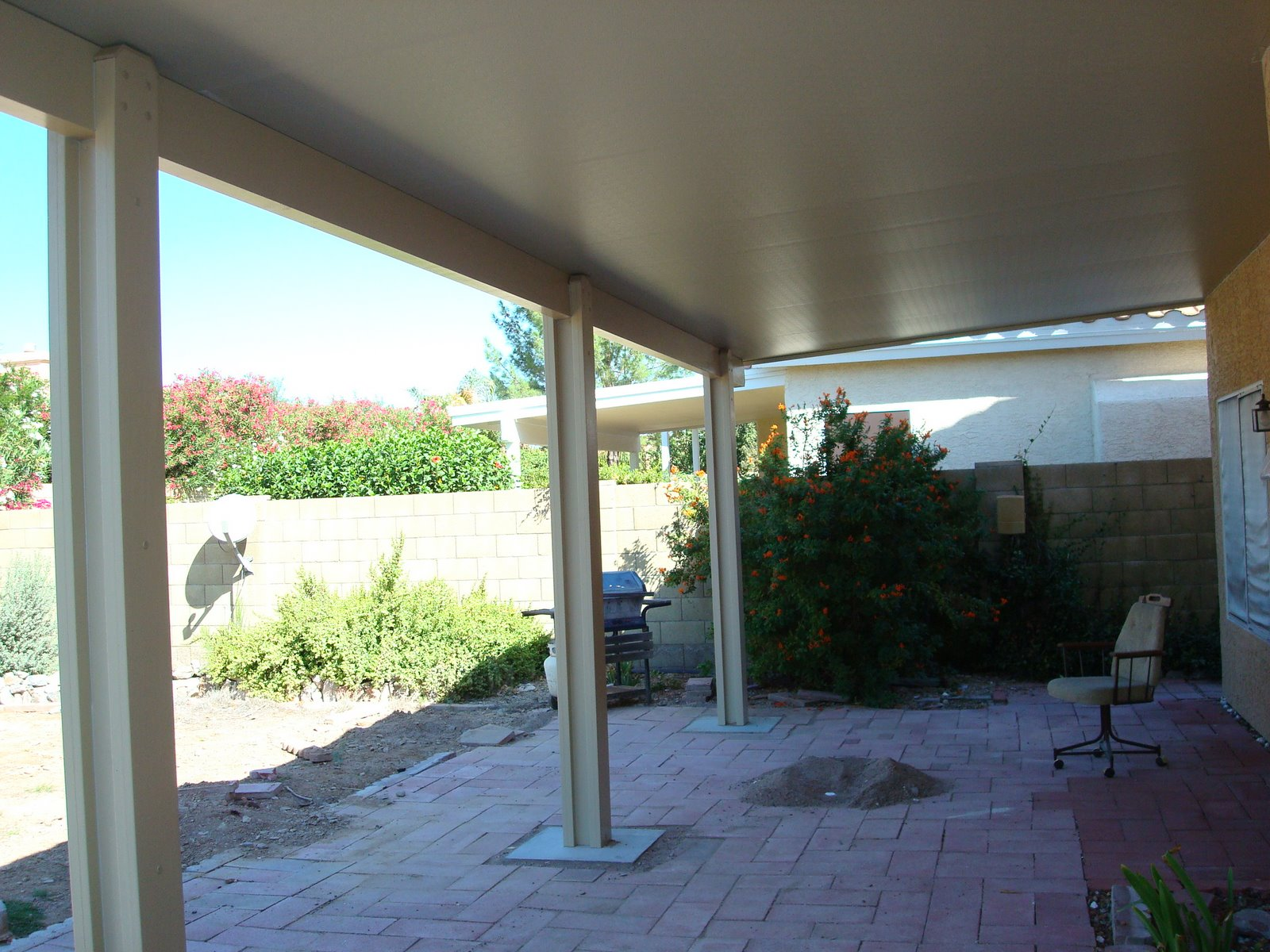 Patio Roo0f With New Insulated Aluminum Roof Panels